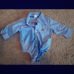 Blue colored shirt